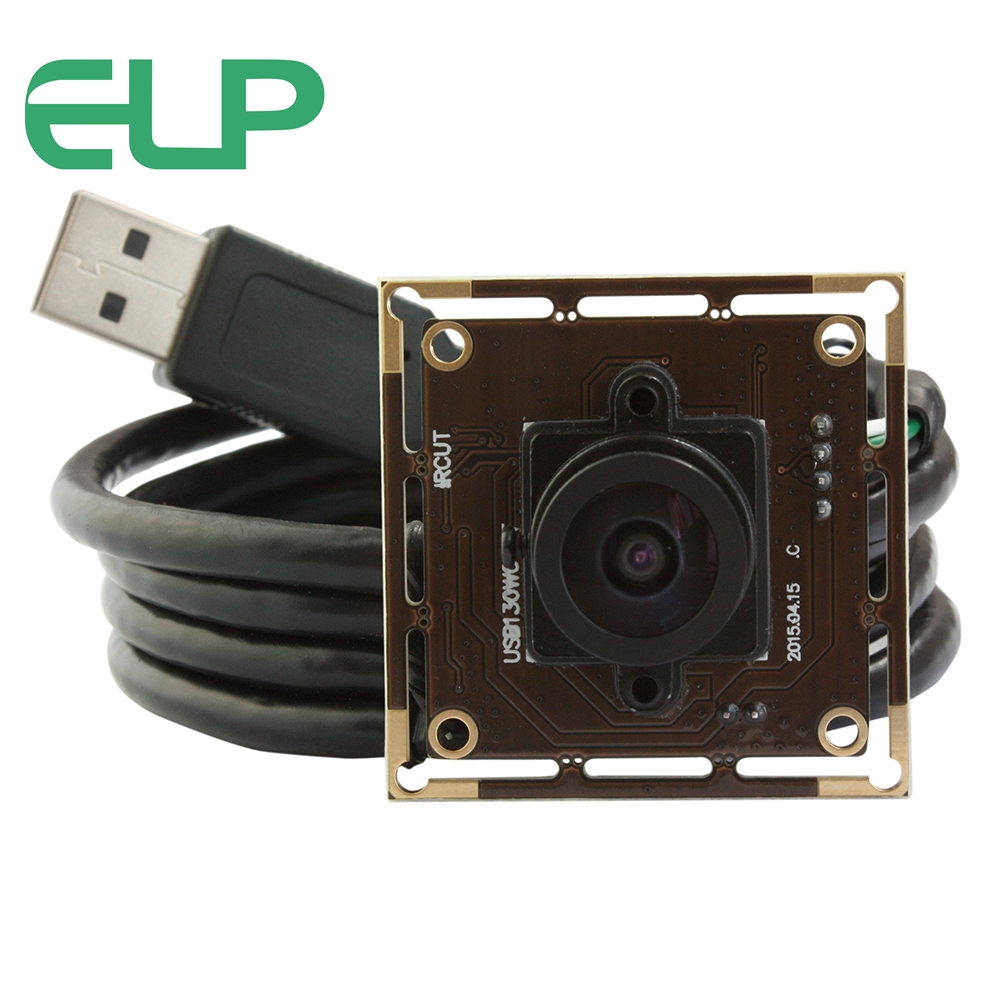ELP Aptina AR0130 sensor Low Illumination USB Camera Module 2.1mm Lens Wide Angle Webcam for Security system